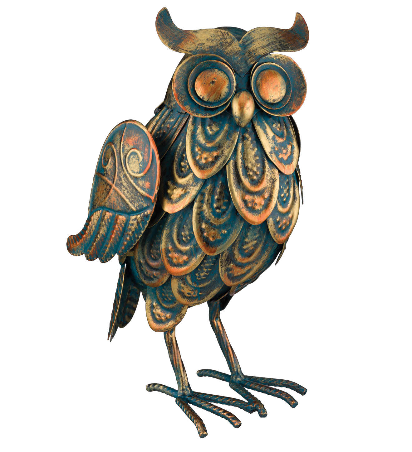 Patina Owl Decor 11.5""