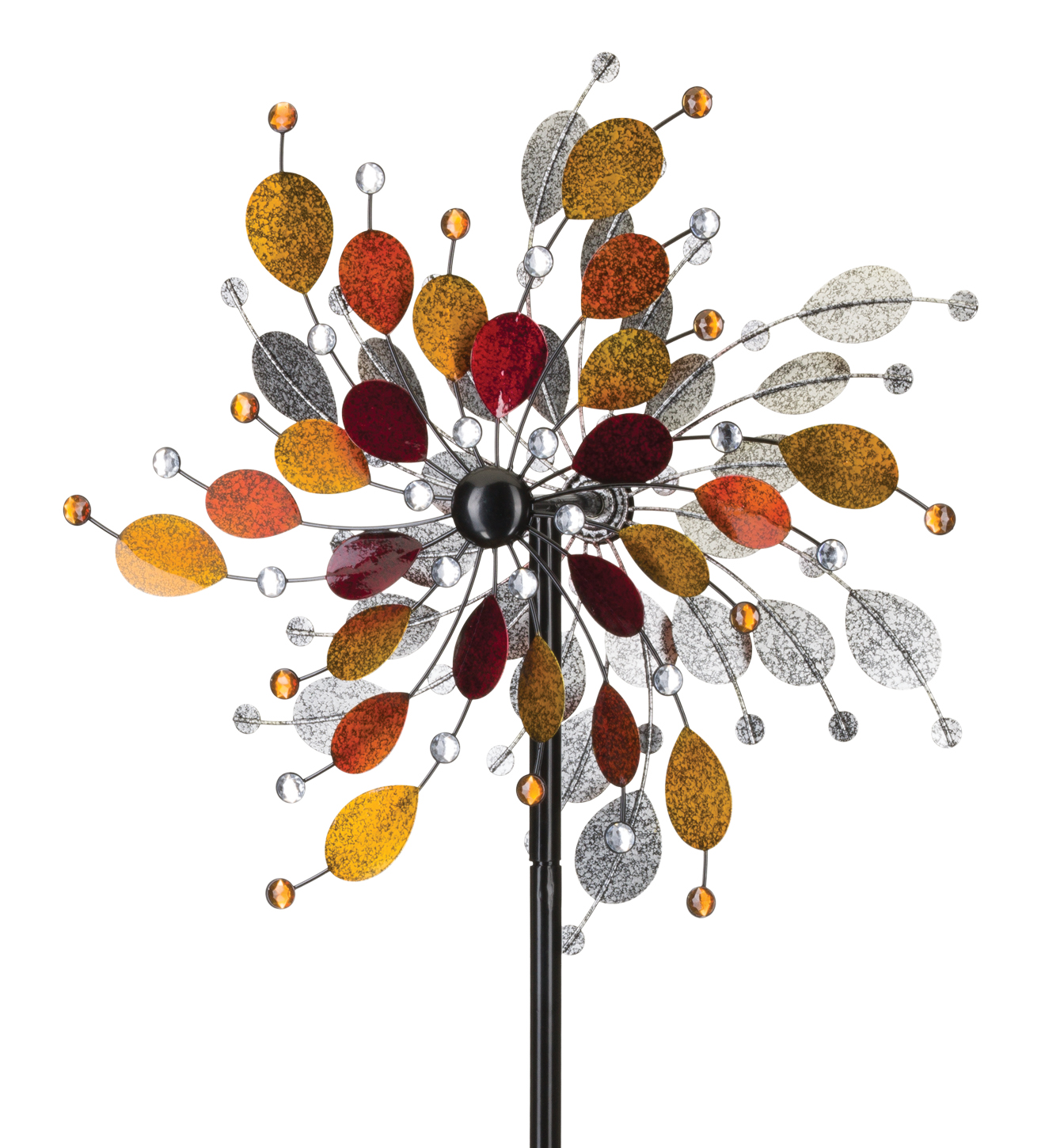 "24"" Rotating Wind Spinner - Jeweled Metallic"