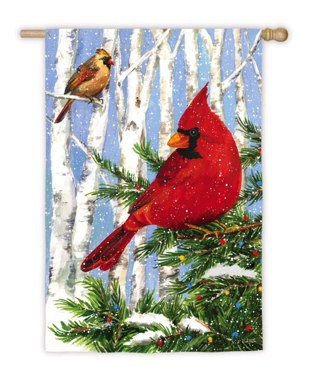 House Flag - Cardinal Birches