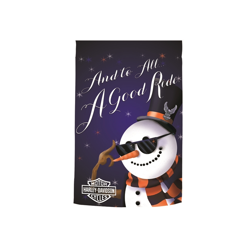 House Flag - Harley-Davidson Holiday Snowman