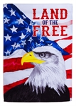 Land of the Free Garden Suede Flag