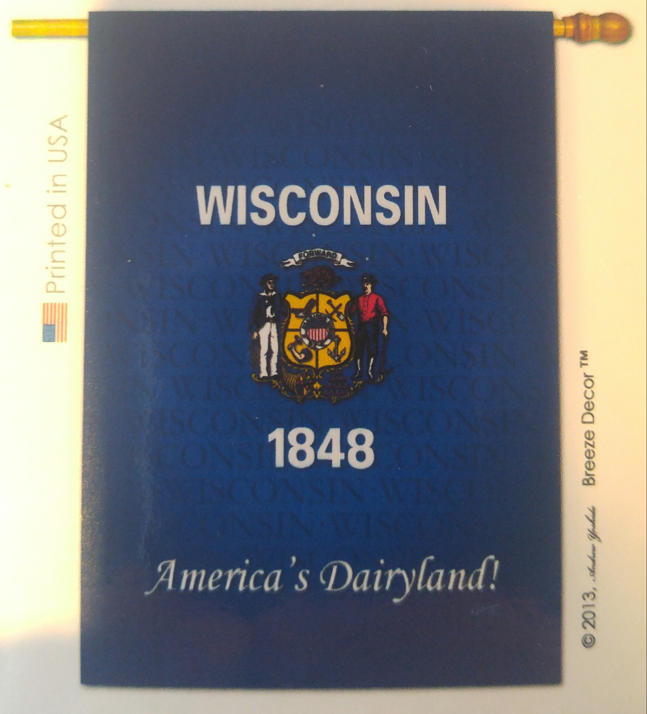 Wisconsin House Flag - Decorative