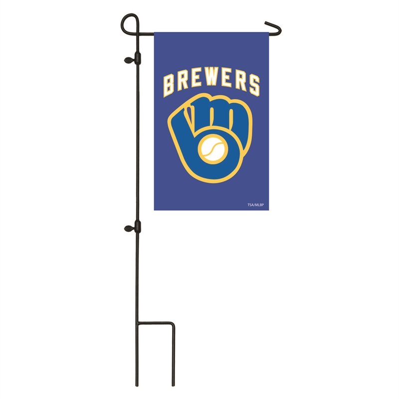 Milwaukee Brewers Embroidered Garden Flag