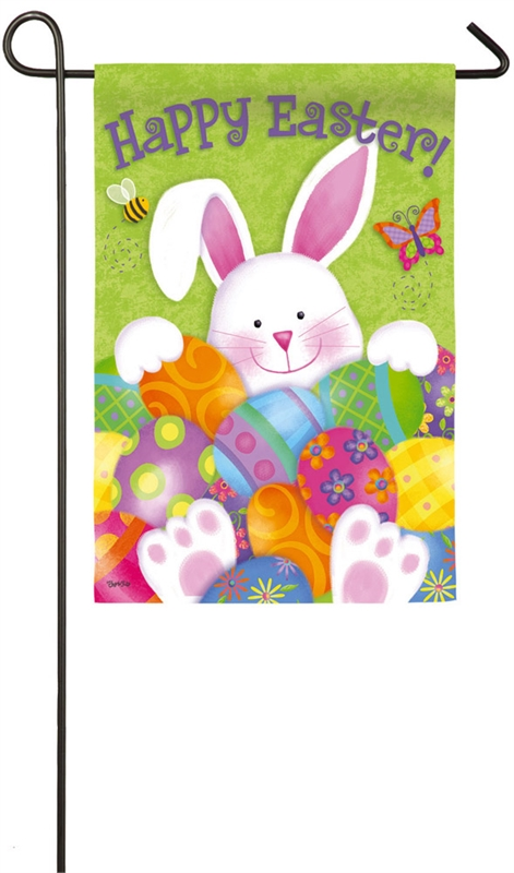 Easter Garden Flag - Bunny With Eggs