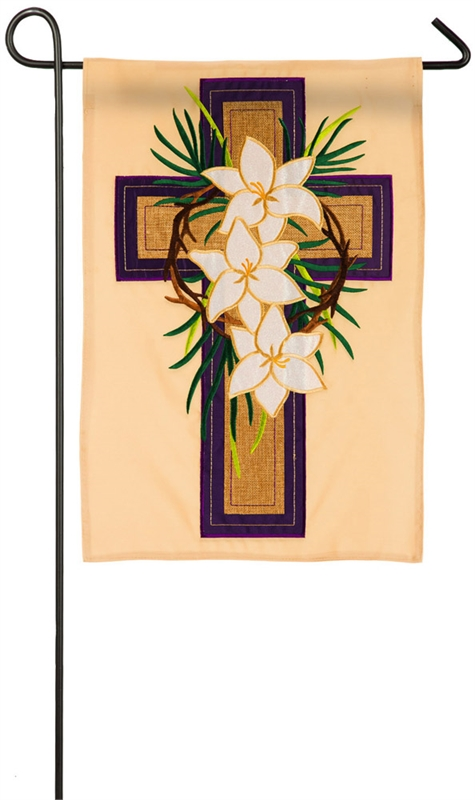 Easter Garden Flag - Easter Cross