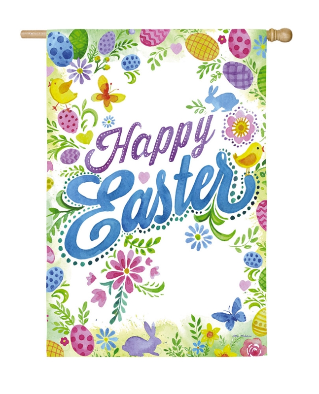 Easter House Flag - Happy Easter