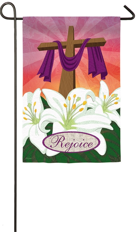 Easter Garden Flag - Rejoice