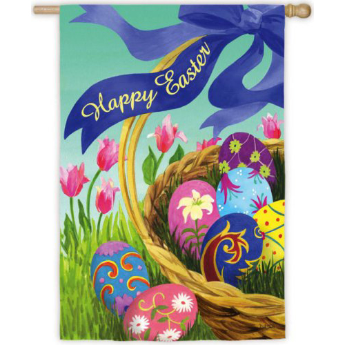 Easter House Flag - Elegant Easter basket