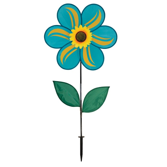 "19"" Sunflower With Leaves - Teal"