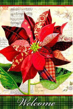 House Flag - Bin Poinsettia