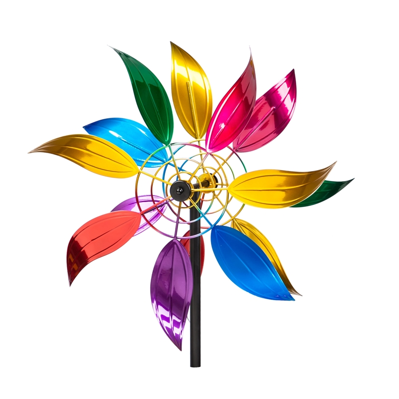 Floral Metal Wind Spinner