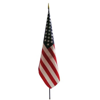 "US 12"" x 18"" Endura-Gloss Mounted Flag"