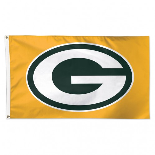 "Green Bay Packers 3' X 5' ""G"" Gold Deluxe Flag"