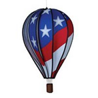 "22"" Patriotic Hot Air Balloon Spinner"