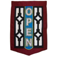 Open Screen Door House Flag