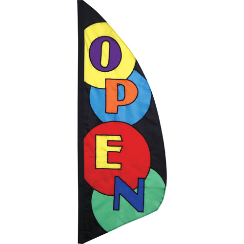 Open - 8.5 ft Block Circles Feather Banner
