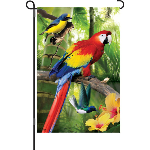 Birds in Paradise Garden Flag