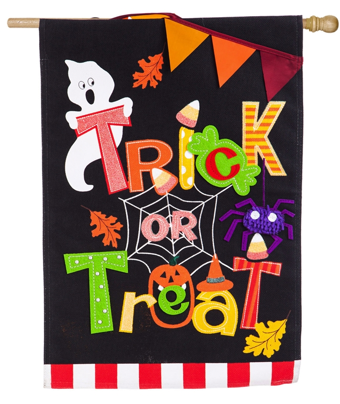 Halloween Trick or Treat House Flag