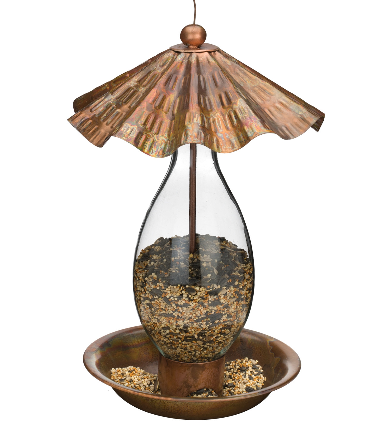 Bird Feeder - Flamed Wave