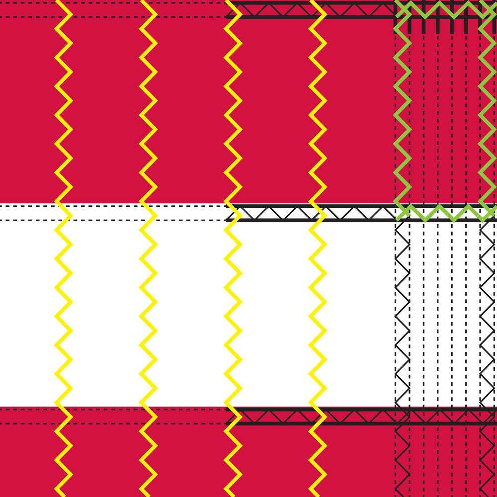 US 3' X 5' E-Nylon Vertical Stitches/Reinforced Corners Flag