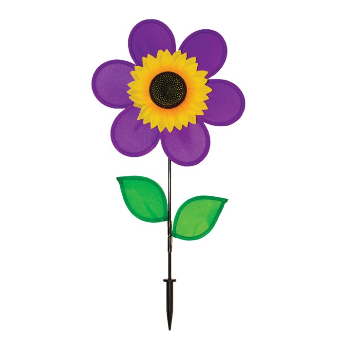 "12"" Sunflower with Leaves - Purple"
