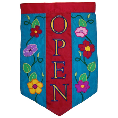 Open Flowers House Flag