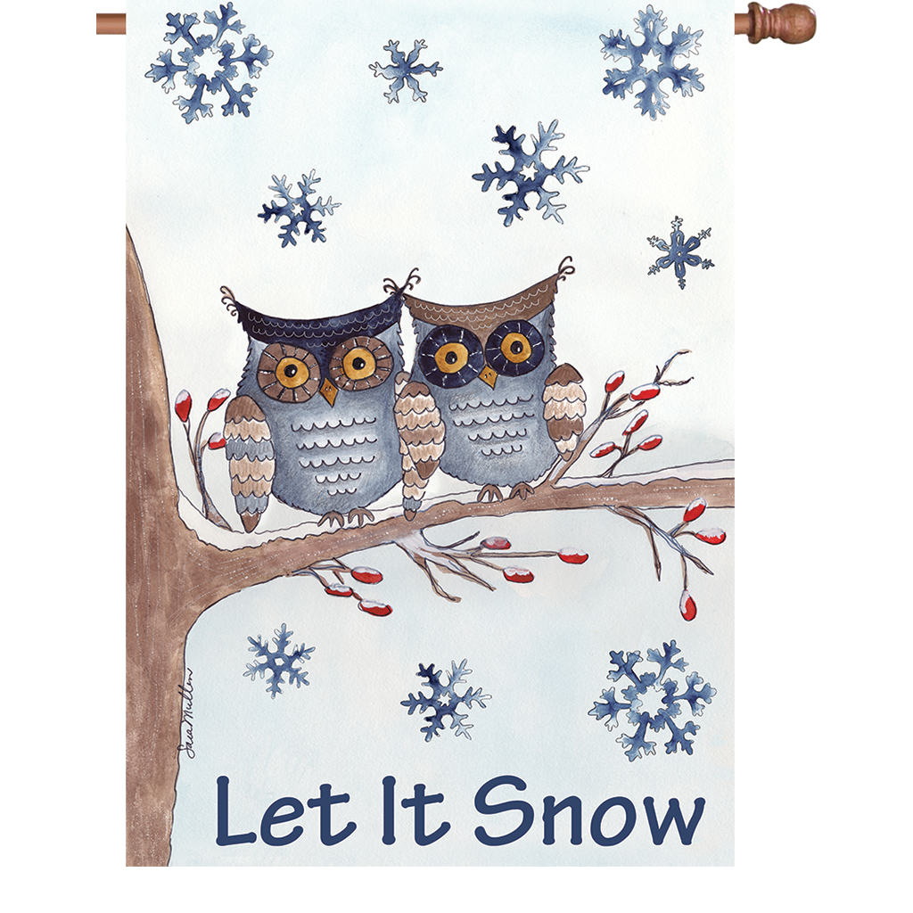 House Flag - Owls In The Snow