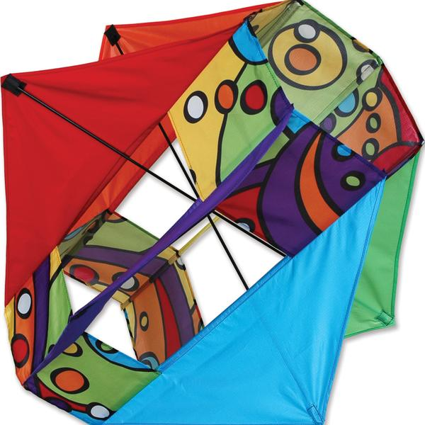 Six Wing Box Kite - Rainbow Orbit