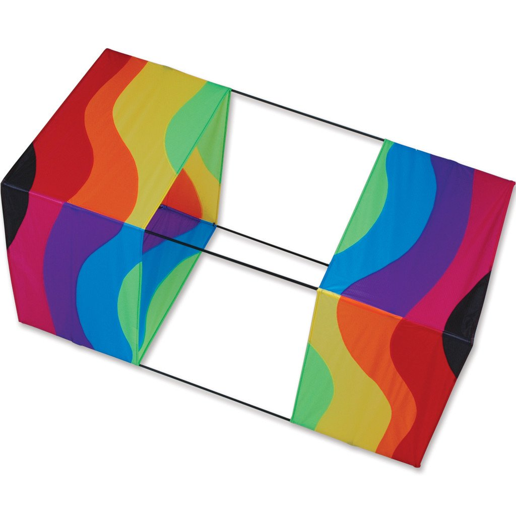 Traditional Box Kite - Wavy Rainbow
