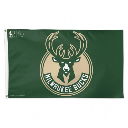 Milwaukee Bucks 3' X 5' Flag - Green