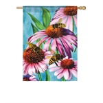 Bees and Coneflower - Click Image to Close