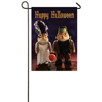 Monster Couple Garden Suede Flag