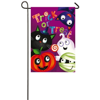 Trick-or-Treat Garden Suede Flag