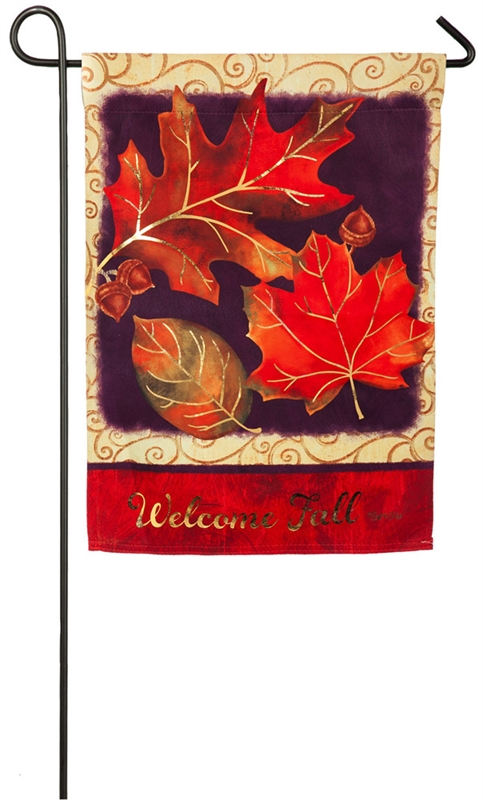 Brilliant Autumn Garden Suede Flag