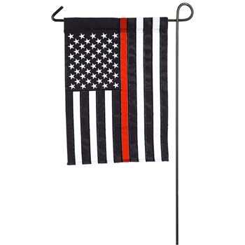Thin Red Line Garden Applique Flag