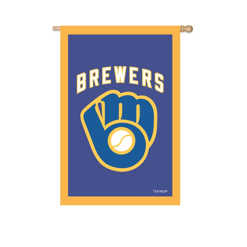 Milwaukee Brewers Embroidered House Flag