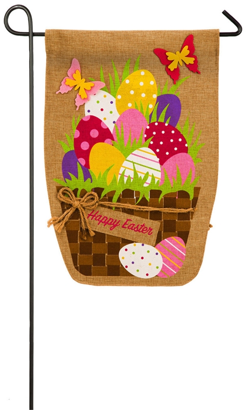 Easter Garden Flag - Easter Egg Basket