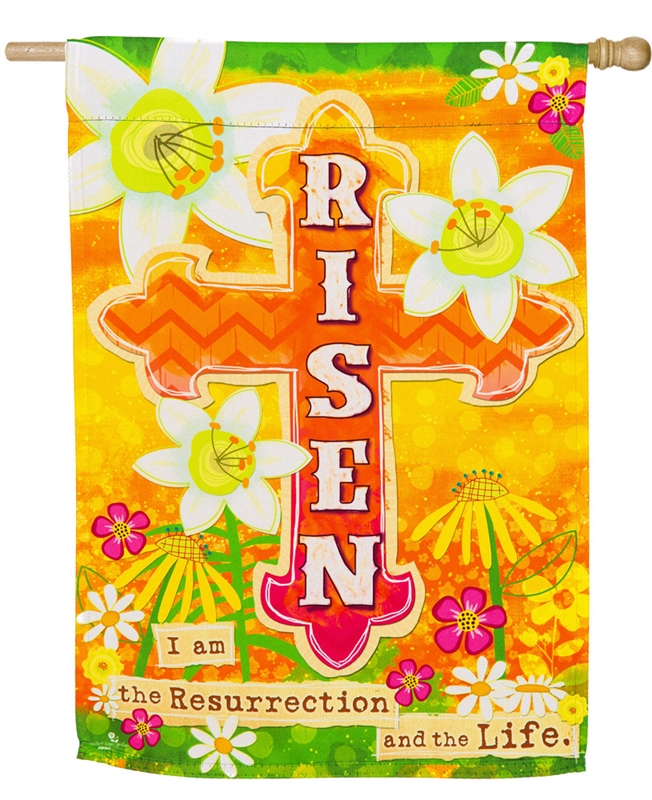 Easter House Flag - Risen