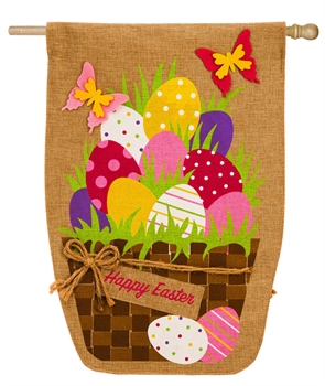 Easter House Flag - Easter Egg Basket