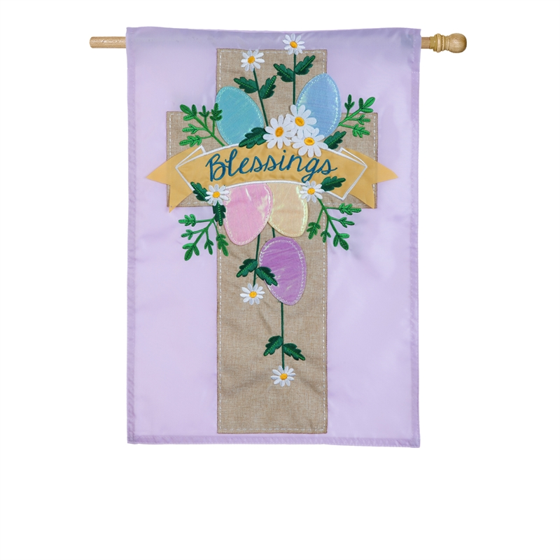 Easter House Flag - Easter Cross