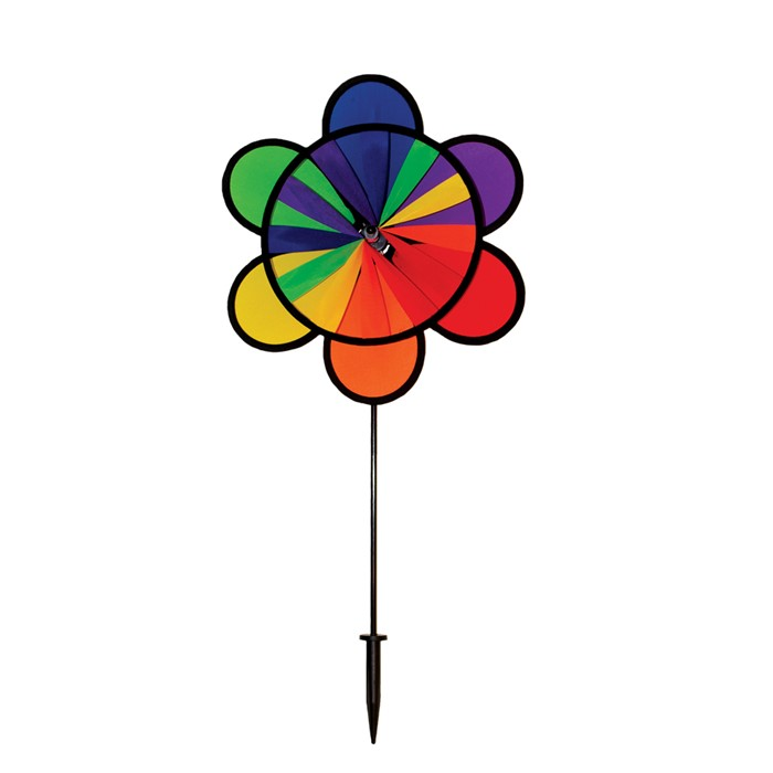 "12"" Rainbow Double Flower Wheel"