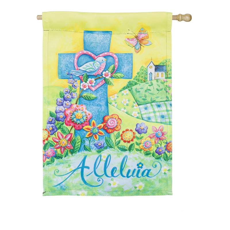 Easter House Flag - easter Alleluia