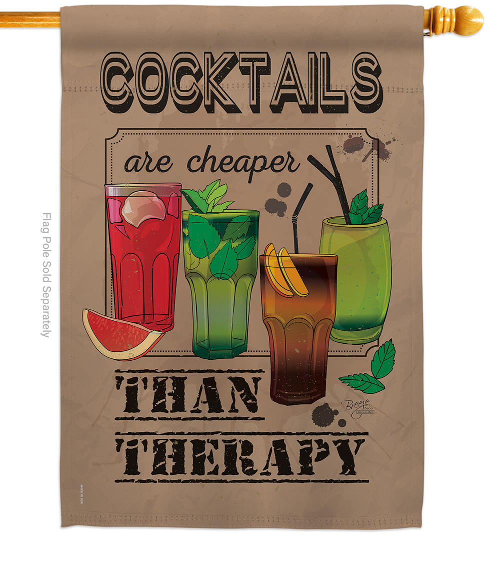Cocktails are Cheaper than Therapy