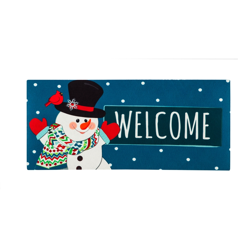 Switch Mat - Snowman Welcome