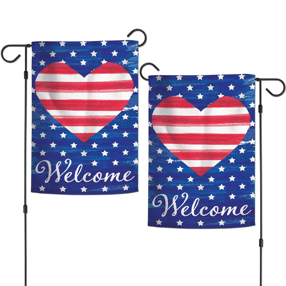 Patriotic Striped Heart