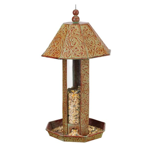 Bird Feeder - Green Octagon