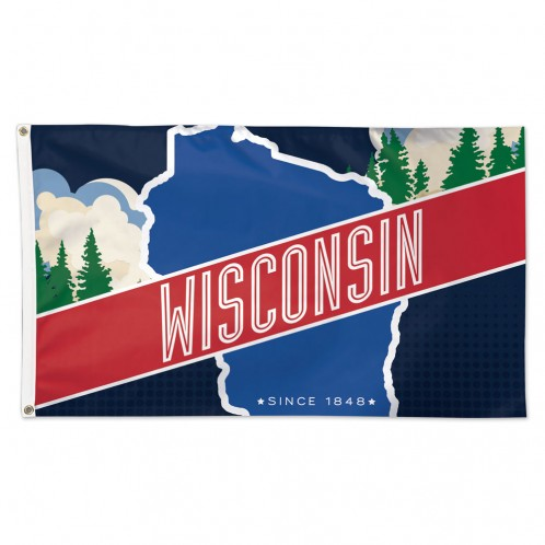3' x 5' Deluxe Wisconsin Since 1848 Flag