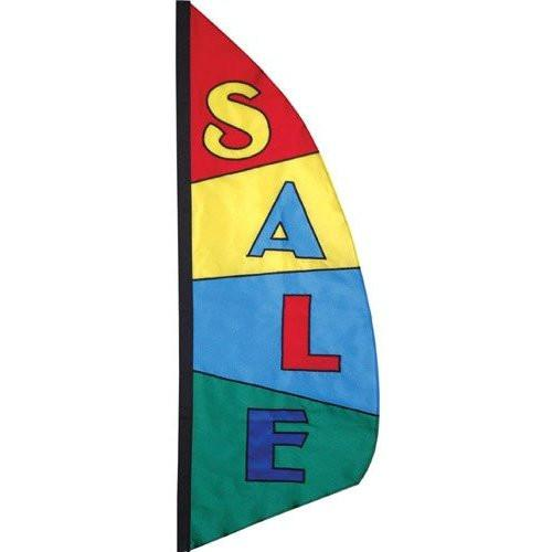 Sale - 8.5 ft Block Rainbow Feather Banner