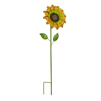 "32"" Secret Solar Garden Stake, Sunflower"