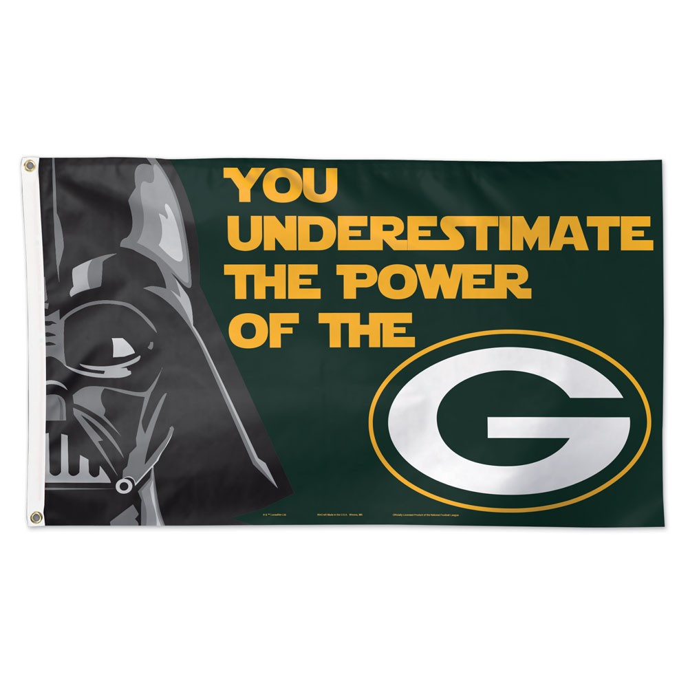 "Green Bay Packers 3' X 5"" - Darth Vader"